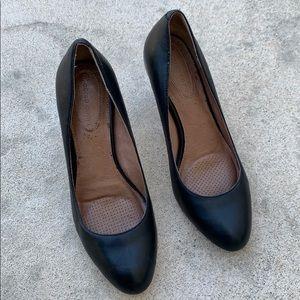 Corso Como Black Leather Heel Pumps Size 8